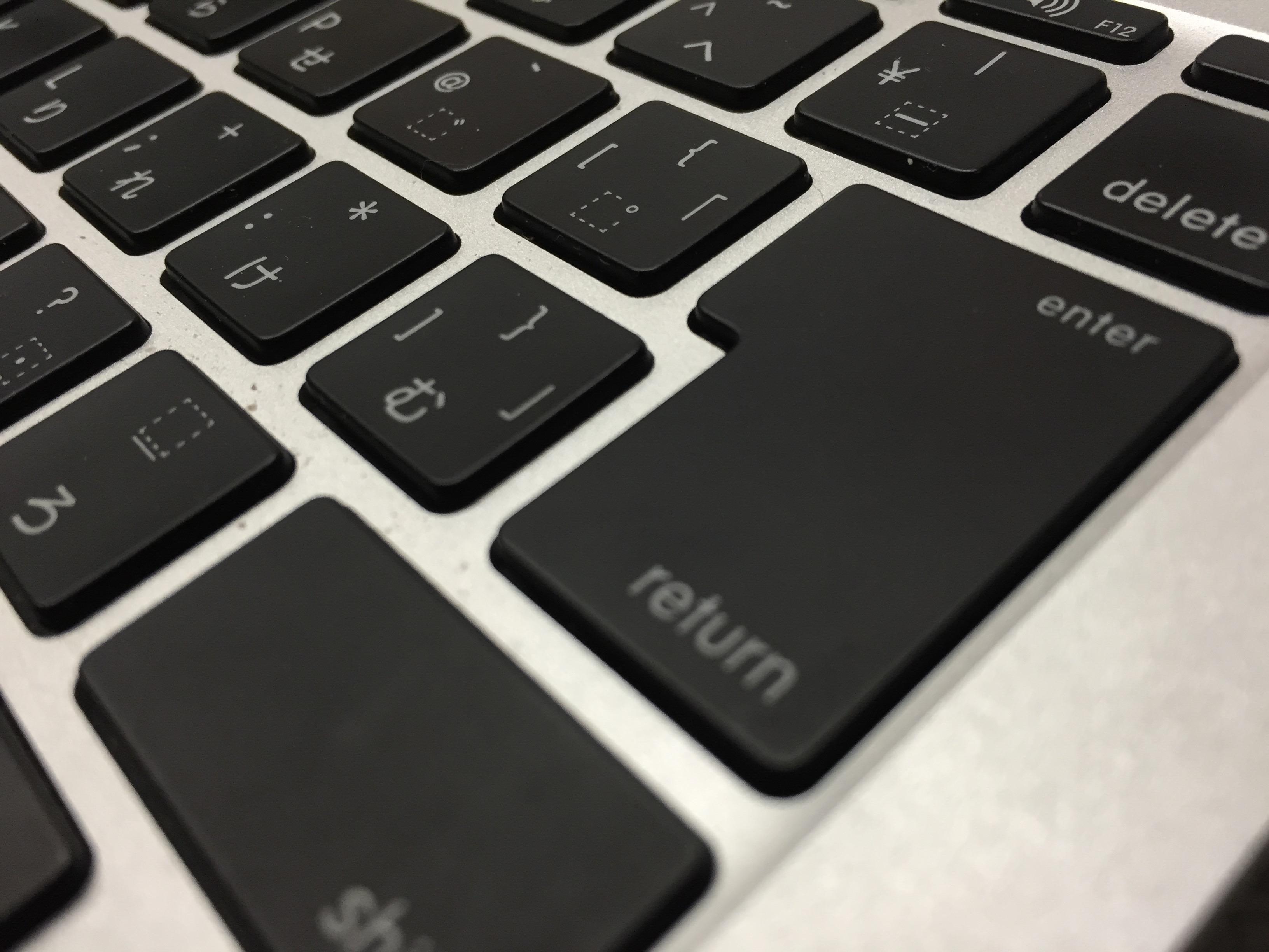 Macbook AirのキーボードはやっぱりラップトップPCの中でベスト(新しいMacbookじゃないよ)